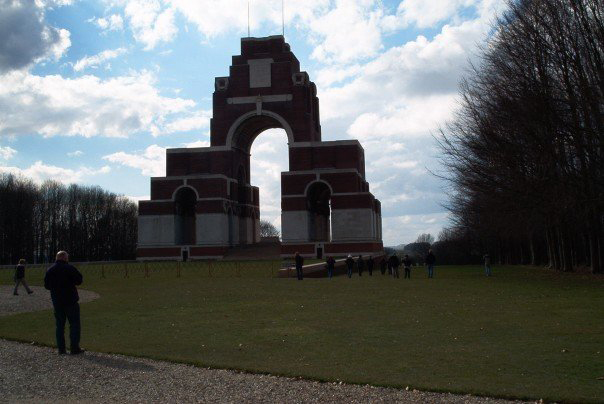 Thiepval Memorial to the Missing where Sjt Hoad is commemorated.