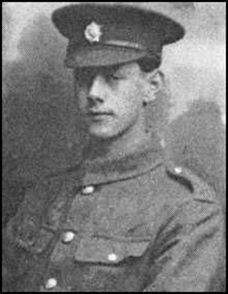 Private Reginald Tite. Executed by firing squad 25 November 1916. Picture courtesy of Steve Manwaring.