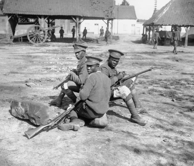 West Indian Soldiers In Seaford