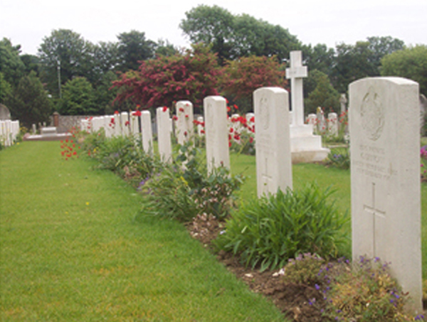 West Indian graves in Seaford. Courtesy of Brighton and Hove Black History Group