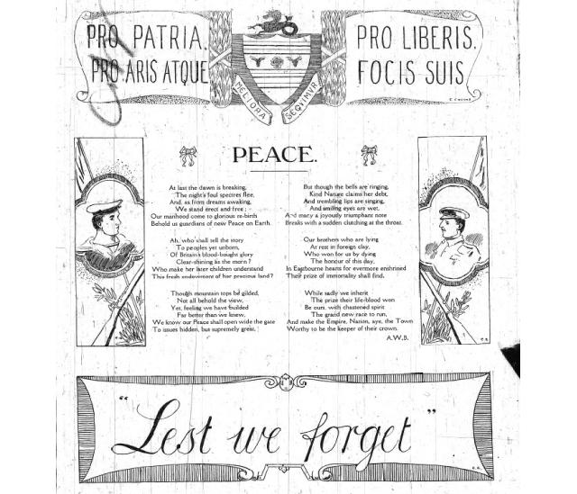 Peace - The Eastbourne Gazette 20/11/1918