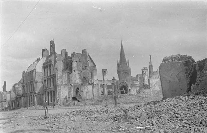 Ruins in the Square, Ypres, May 1915 - Image Courtesy of the Imperial War Museum (IWM Q 56699)
