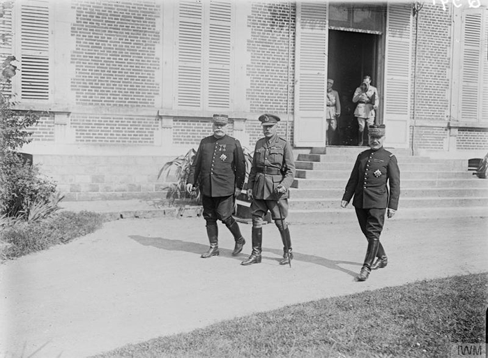 Generals Joffre, Haig, and Foch (l-r). Image courtesy of Imperial War Museum: Q 951