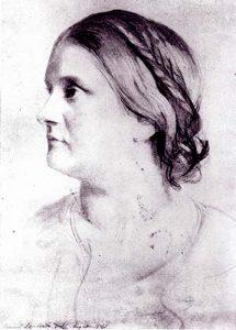 Barbara Bodichon portrait by Samuel Lawrence