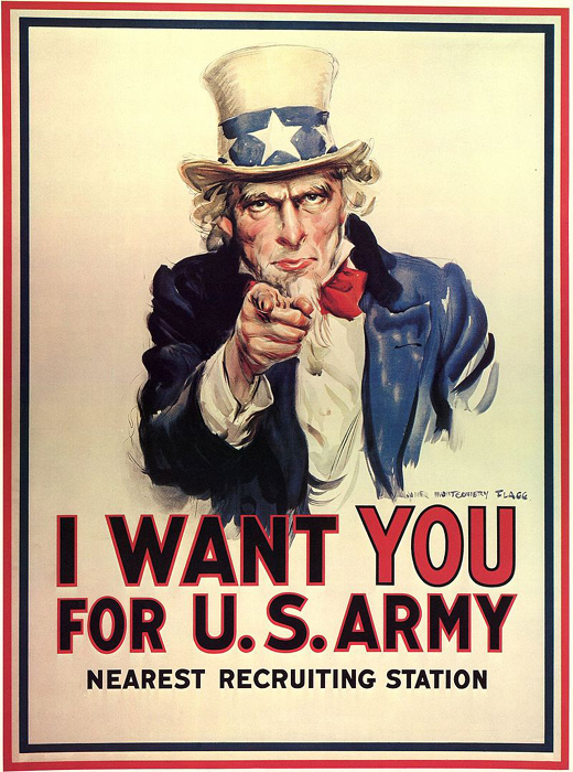 'Uncle Sam Wants You!' - American Recruitment Poster