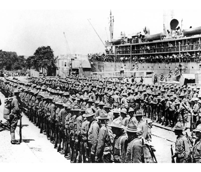 American soldiers arrive in France - WW1 East Sussex