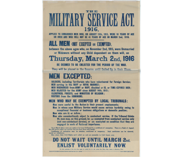 Conscription - The Military Service Act